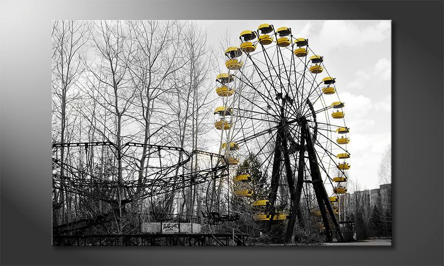 Das gedruckte Bild Ferris Wheel