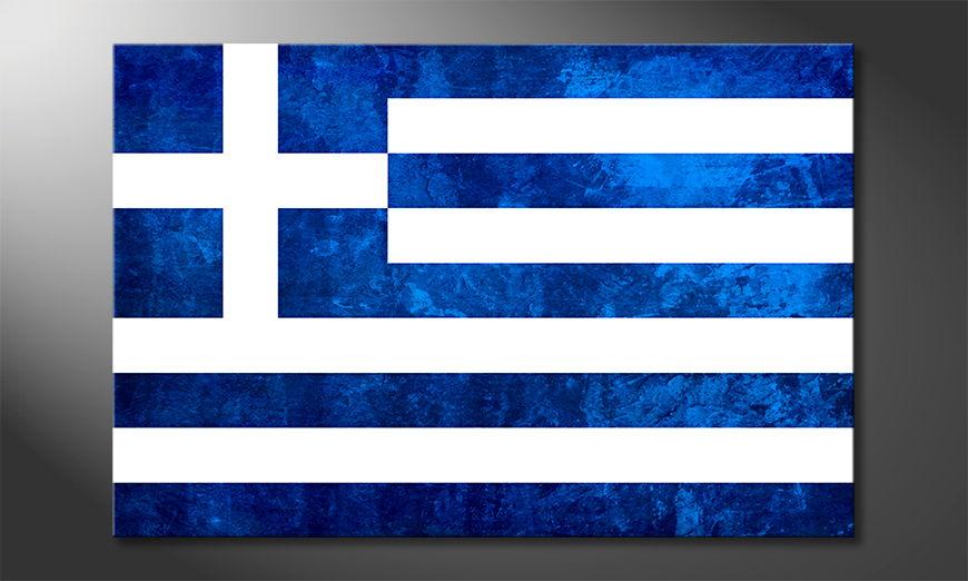 Das gedruckte Bild Griechenland