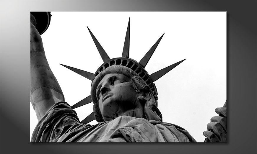 Das gedruckte Bild Liberty