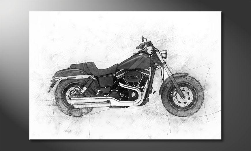 Das gedruckte Bild Motorbike Uno