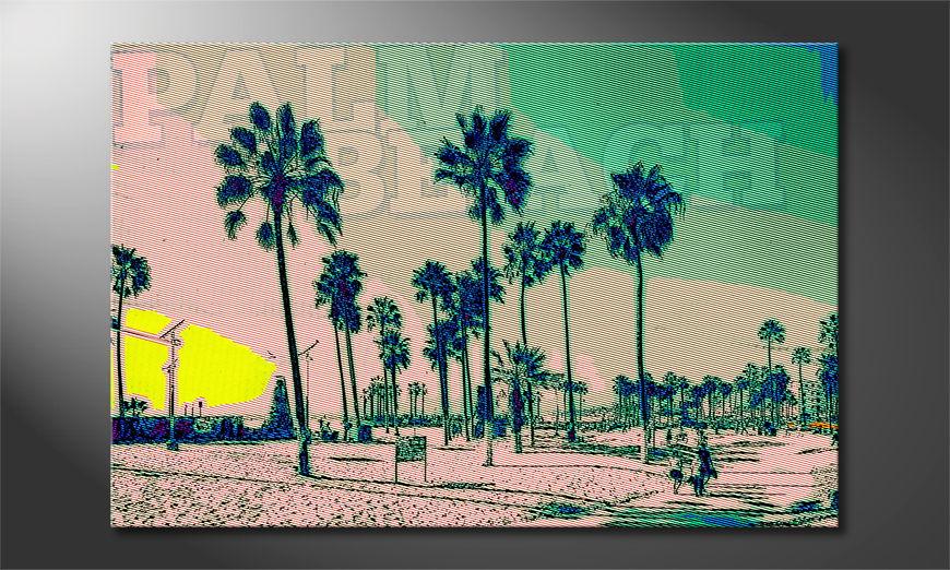 Das gedruckte Bild Palm Beach