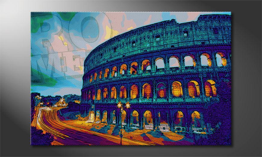 Das gedruckte Bild Rom in 6 Größen