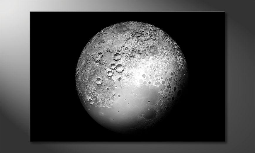 Das gedruckte Bild The Moon