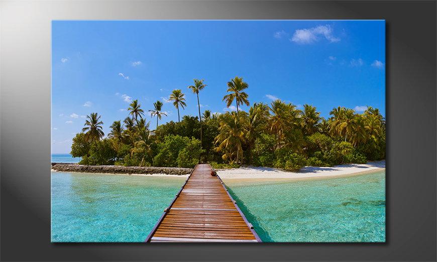 Das gedruckte Bild Tropical Way