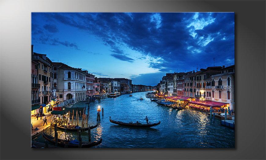 Das gedruckte Bild Venice Sunset