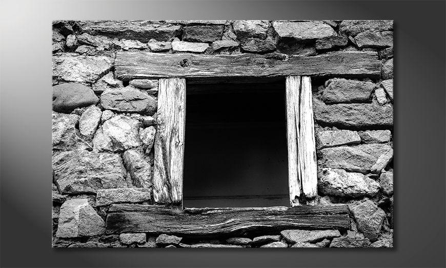Das gedruckte Bild Wooden Windows
