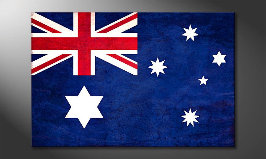 Das gedruckte Leinwandbild Australien