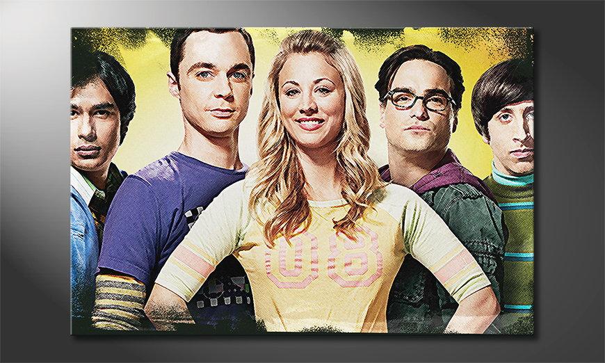 Das gedruckte Leinwandbild Big Bang Theory