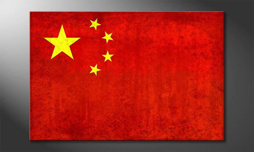Das gedruckte Leinwandbild China