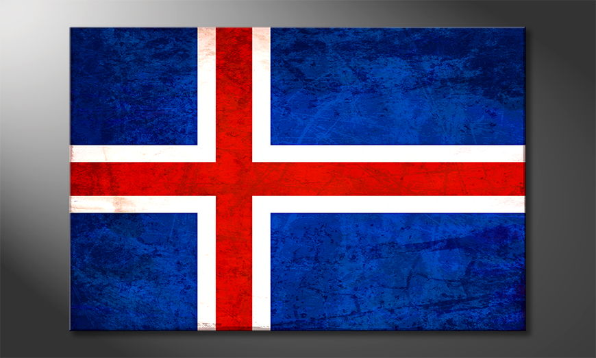 Das gedruckte Leinwandbild Island