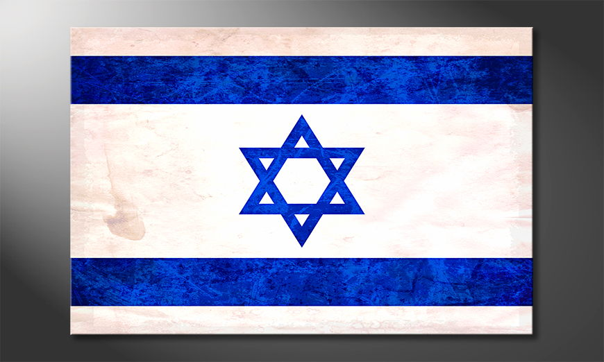 Das gedruckte Leinwandbild Israel
