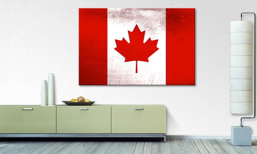 Das gedruckte Leinwandbild Kanada - Wandbilder XXL