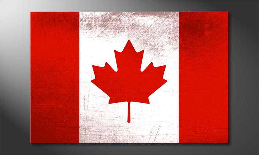 Das gedruckte Leinwandbild Kanada