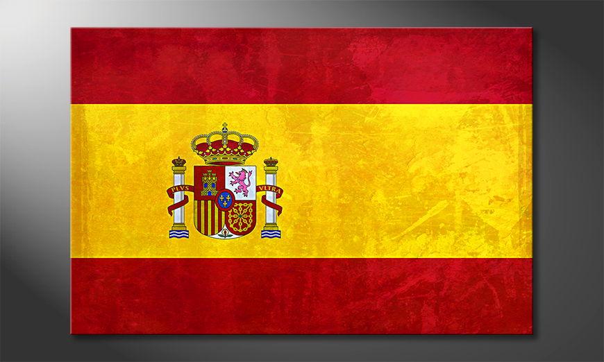 Das gedruckte Leinwandbild Spanien