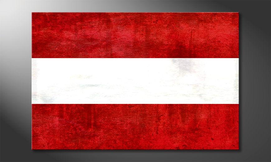 Das gedruckte Wandbild Österreich