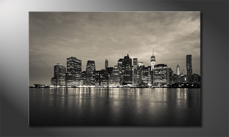 Das gedruckte wandbild manhatten skyline wandbilder xxl
