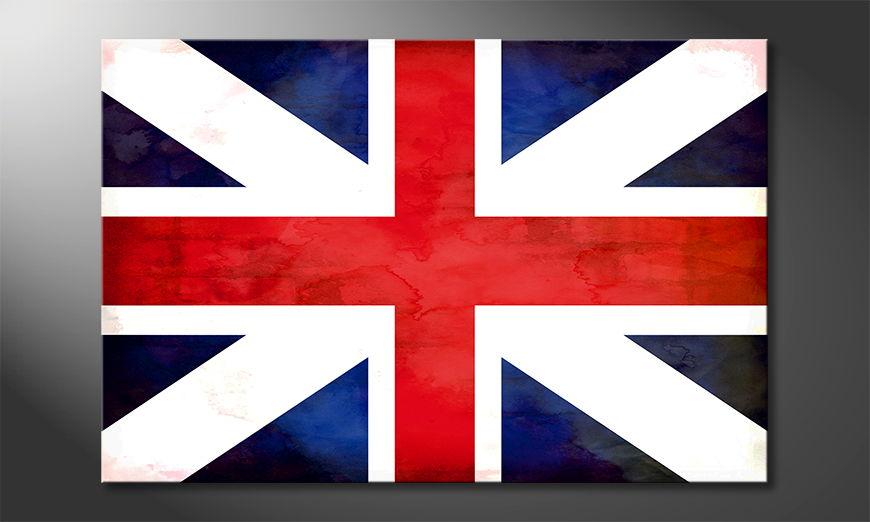 Das gedruckte Wandbild Union Jack