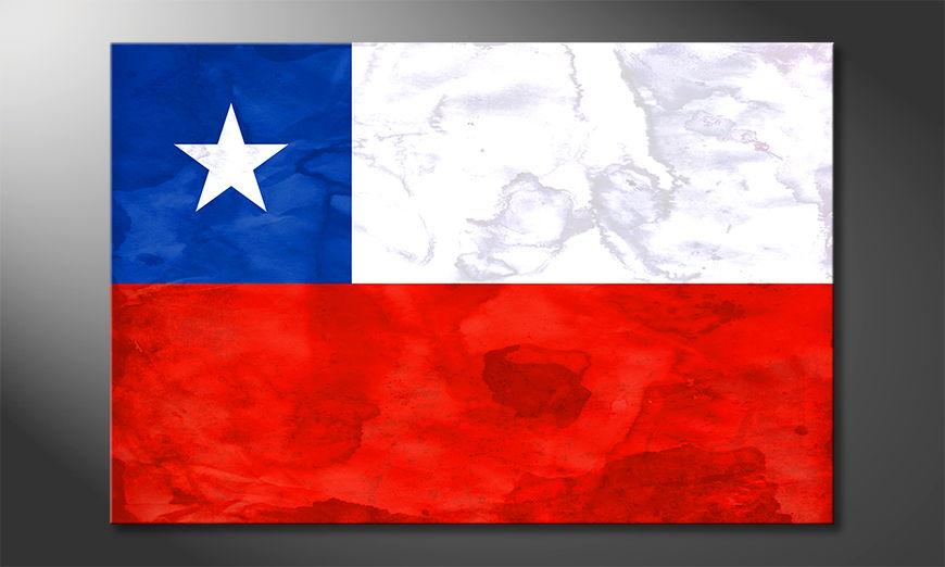 Das hochwertige Leinwandbild Chile