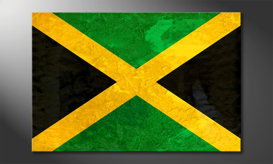 Das hochwertige Wandbild Jamaica