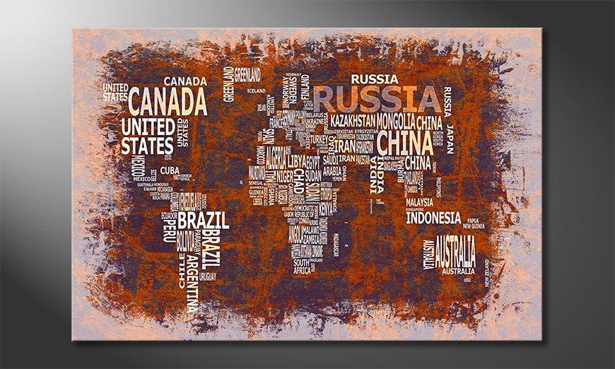 Das moderne Bild Weltkarte Nr19
