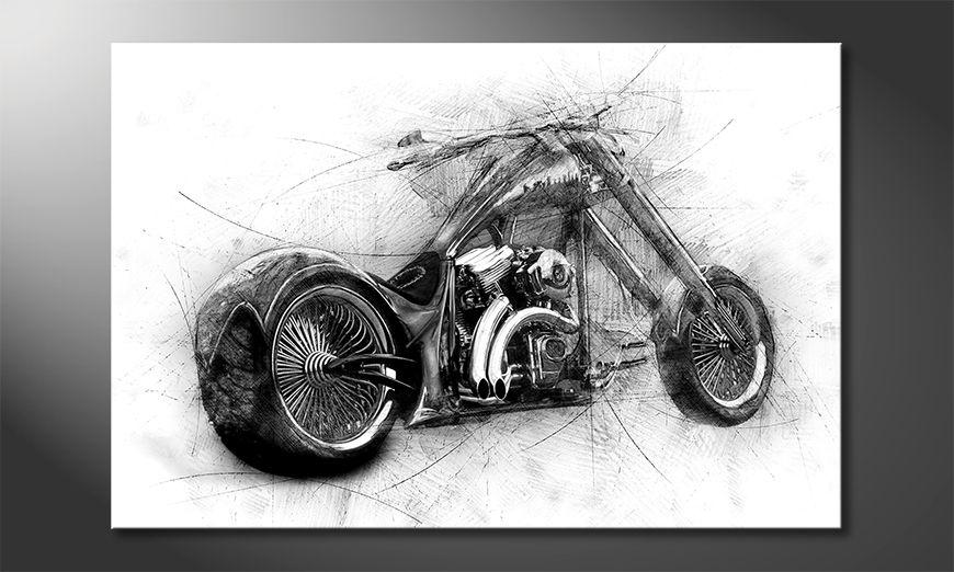 Das moderne Leinwandbild Bad Bike