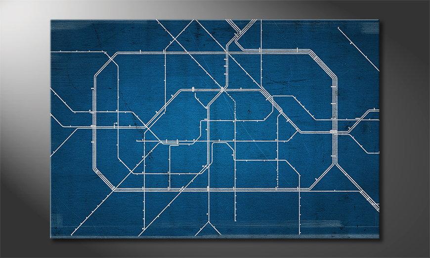 Das moderne Leinwandbild Berlin Metro