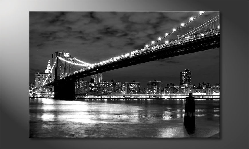 Das moderne Leinwandbild Brooklyn Bridge