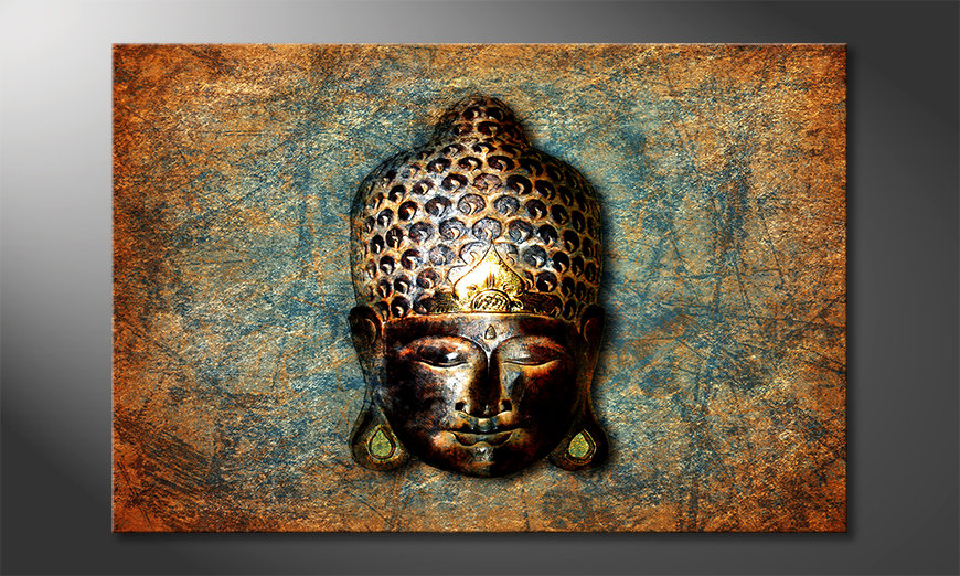 Das moderne Leinwandbild Buddah