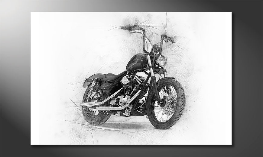 Das moderne Leinwandbild Classic Motorcycle