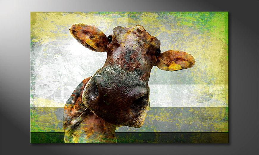 Das moderne Leinwandbild Cow Nose