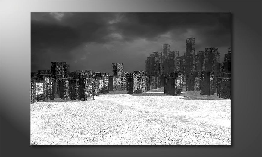 Das moderne Leinwandbild Dystopie