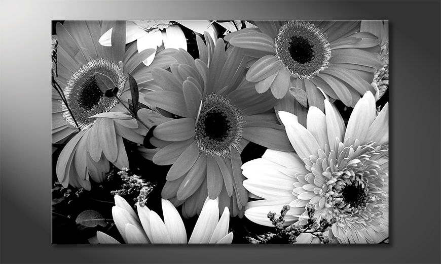 Das moderne Leinwandbild Flowery Scent