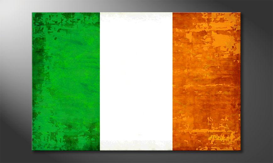 Das moderne Leinwandbild Irland