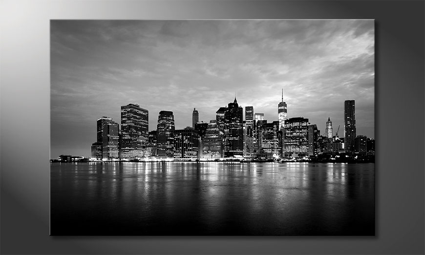 Das moderne Leinwandbild Manhattan Night
