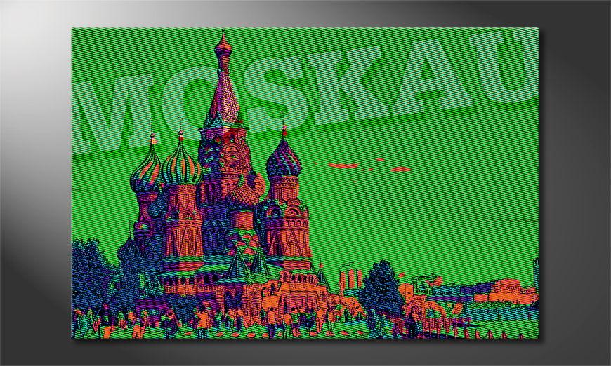 Das moderne Leinwandbild Moskau