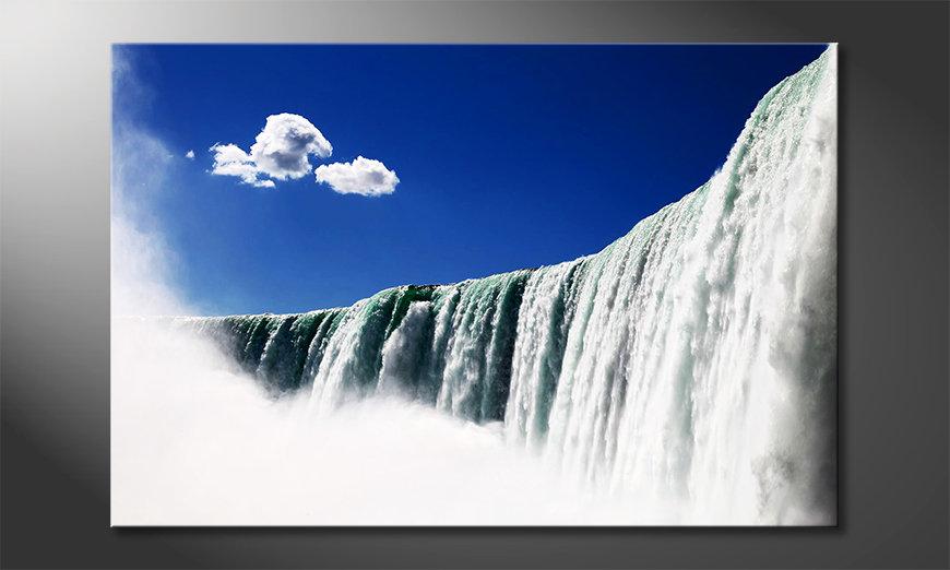 Das moderne Leinwandbild Niagara Falls