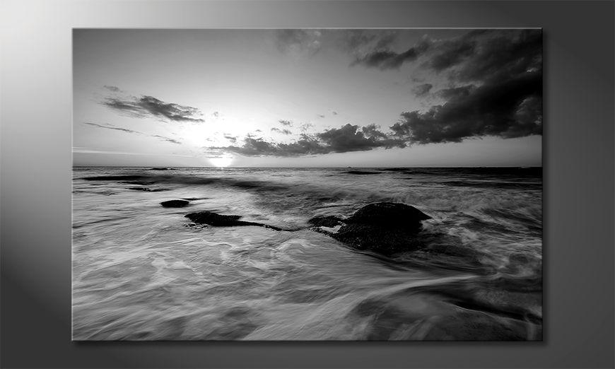 Das moderne Leinwandbild Ocean Sunset
