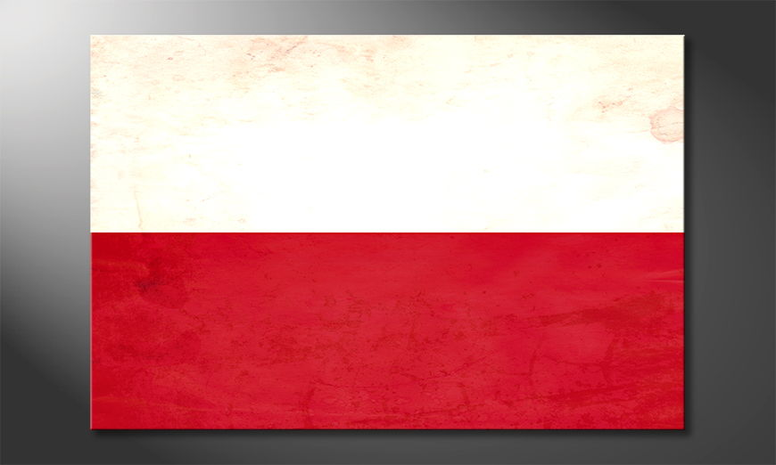 Das moderne Leinwandbild Polen