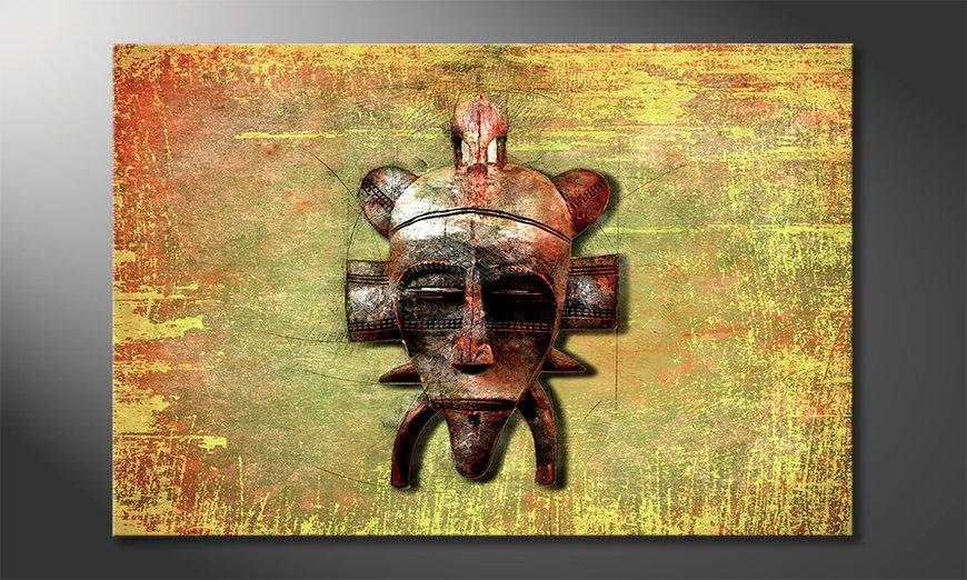 Das moderne Leinwandbild Tribal Lord