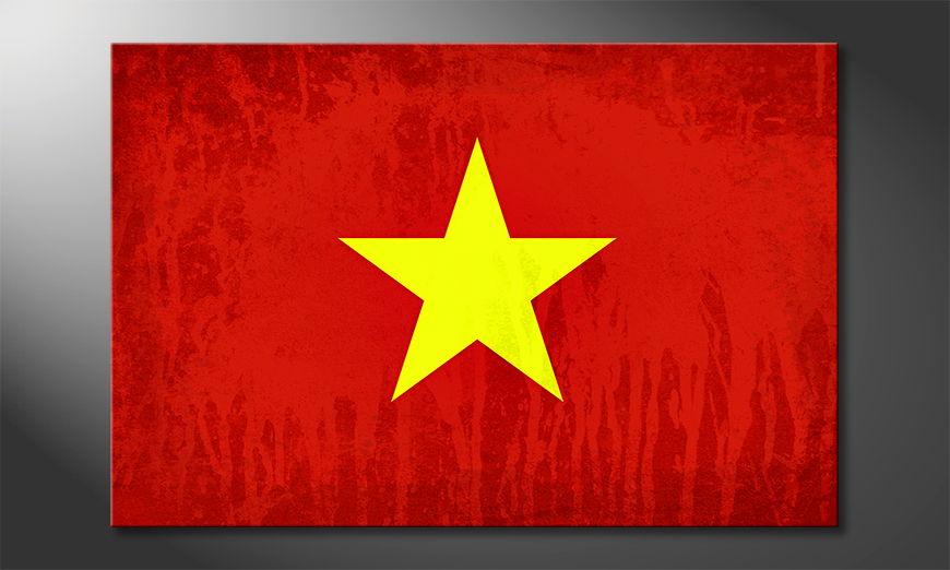 Das moderne Leinwandbild Vietnam