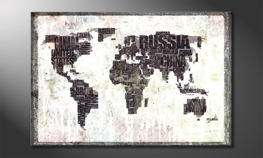 Das moderne Leinwandbild Weltkarte Nr17