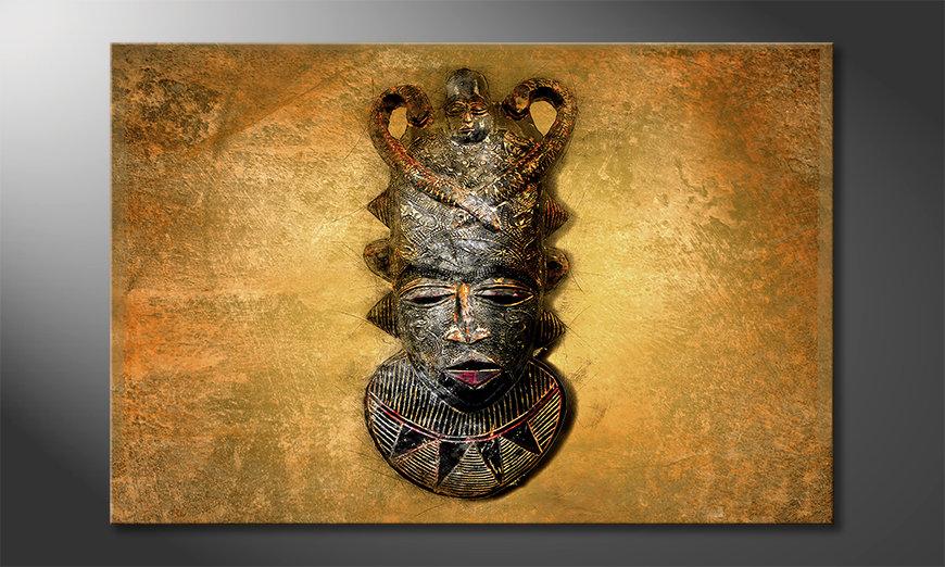 Das moderne Wandbild African Mask