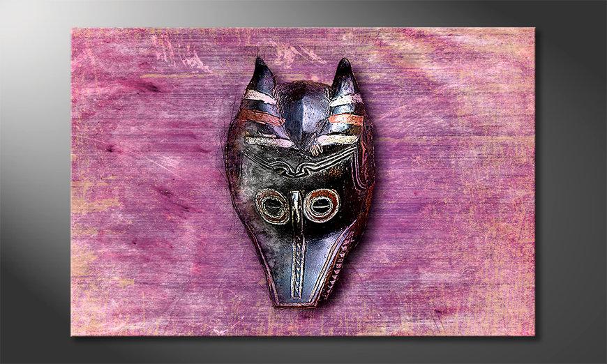 Das moderne Wandbild Afro Mask