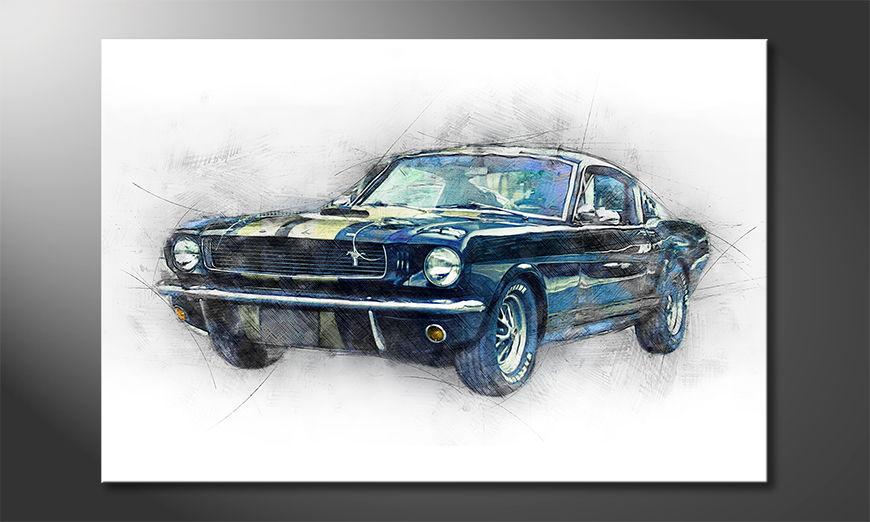 Das moderne Wandbild Black Mustang