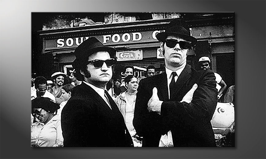 Das moderne Wandbild Blues Brothers