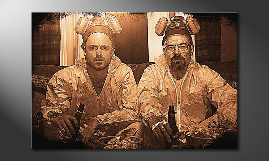 Das moderne Wandbild Breaking Bad