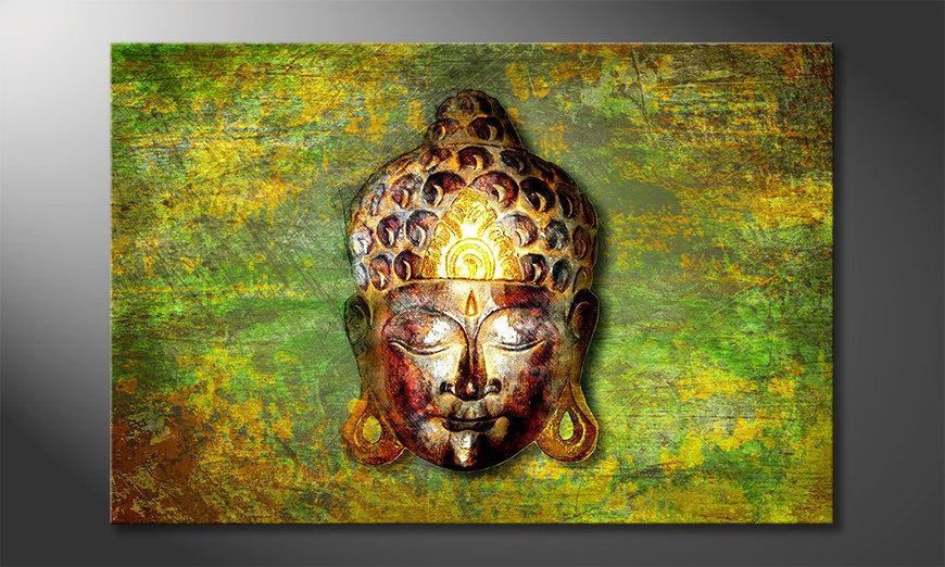 Das moderne Wandbild Buddah Head