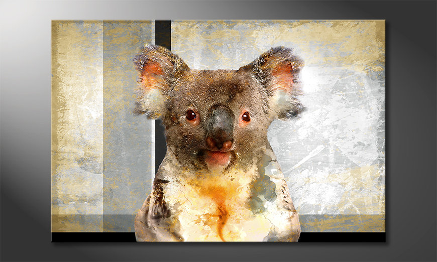 Das moderne Wandbild Chill Koala