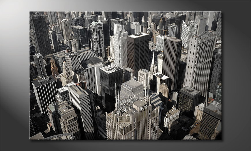 Das moderne Wandbild City of Chicago