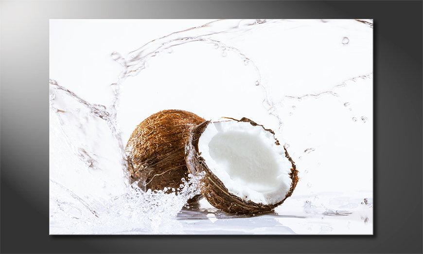 Das moderne Wandbild Coconut